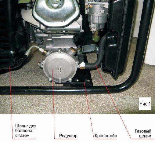 Как перевести бензогенератор на газ своими руками видео